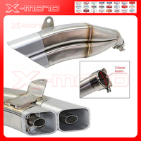 Modified Motorcycle Exhaust Pipe Fittings Muffler New Large Doll Little Monkey M3 Exhaust Pipe Of Stainless