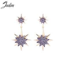 Серьги капельки joolim starburst модные украшения для вечеринок
