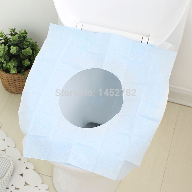 5pcs/set Disposable Paper Toilet Seat Covers Camping Festival Travel Loo  Bathroom Set Accessories