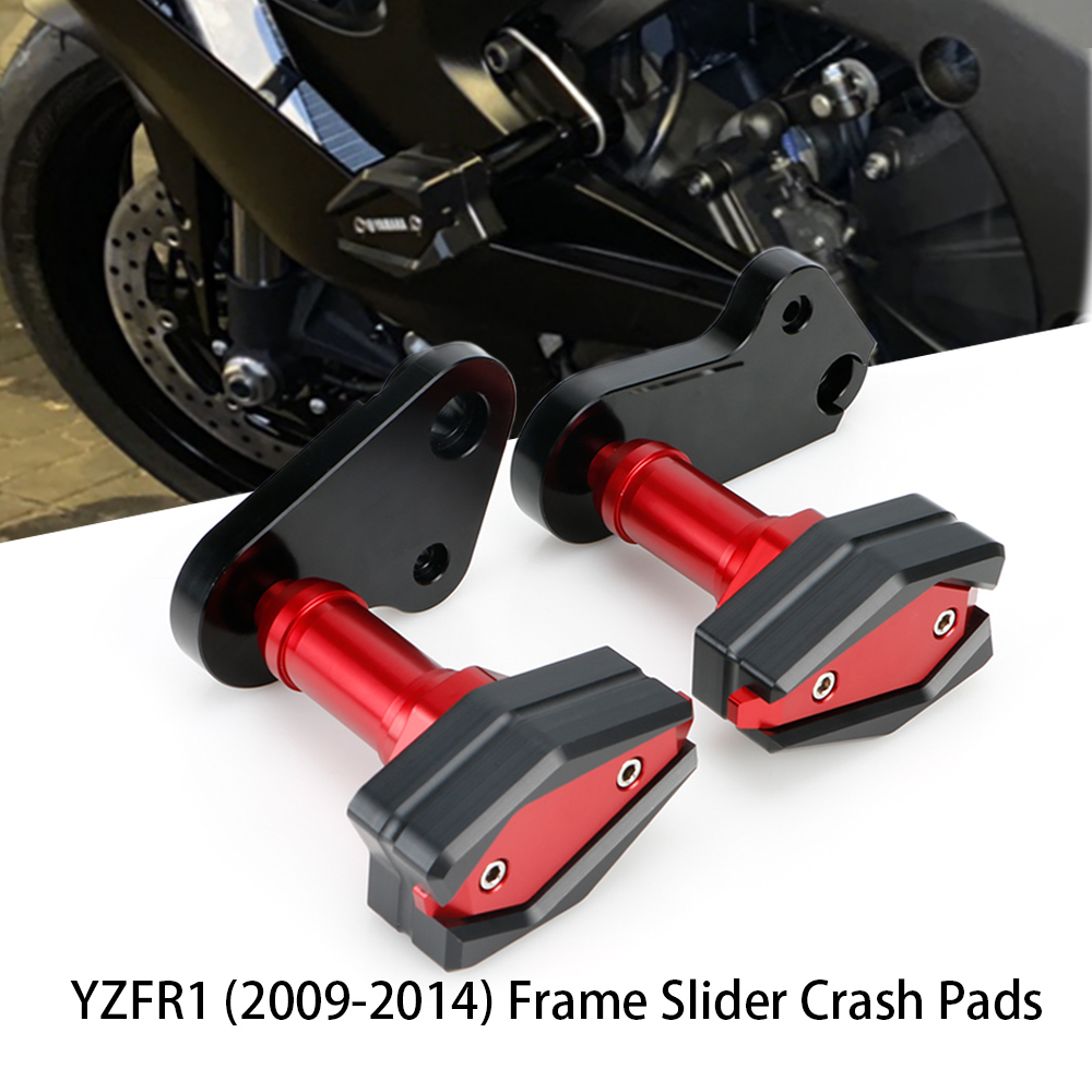 Moto Parts Frame Sliders Crash Pads for Yamaha R1 2009 to 2014 Motorcycle Accessories YZFR1 YZF