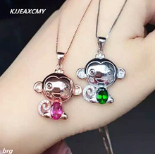 цены KJJEAXCMY boutique jewelry,925 Cartoon fashion monkey pendant 925 sterling silver studded gold color pendant