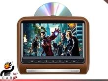 Car TFT LCD Headrest DVD Media Player – SD USB HDMI Games FM IR 9 Inch Brown