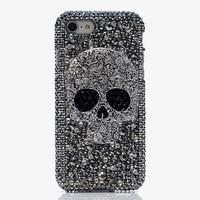Woman Handmade Rhinestone Diamond Gift Skull Phone Cover Case For Samsung Galaxy S6 S7 S8 Edge