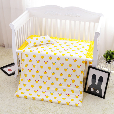 Promotion! 3PCS Cotton Baby Linen Boy bedding set Baby Bedding Baby Crib Set For Both Girl Boy ,Duvet Cover/Sheet/Pillow Cover