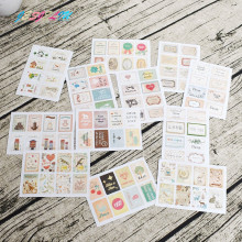 4 шт./упак. Ретро Маленький принц винтажные складывающиеся открытки Наклейки DIY бумажные декоративные наклейки Европейский стиль канцелярские наклейки