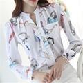autumn 2017 New arrival fashion women tops Korean women shirt slim female Korean long sleeved chiffon blouse plus size ZY2660