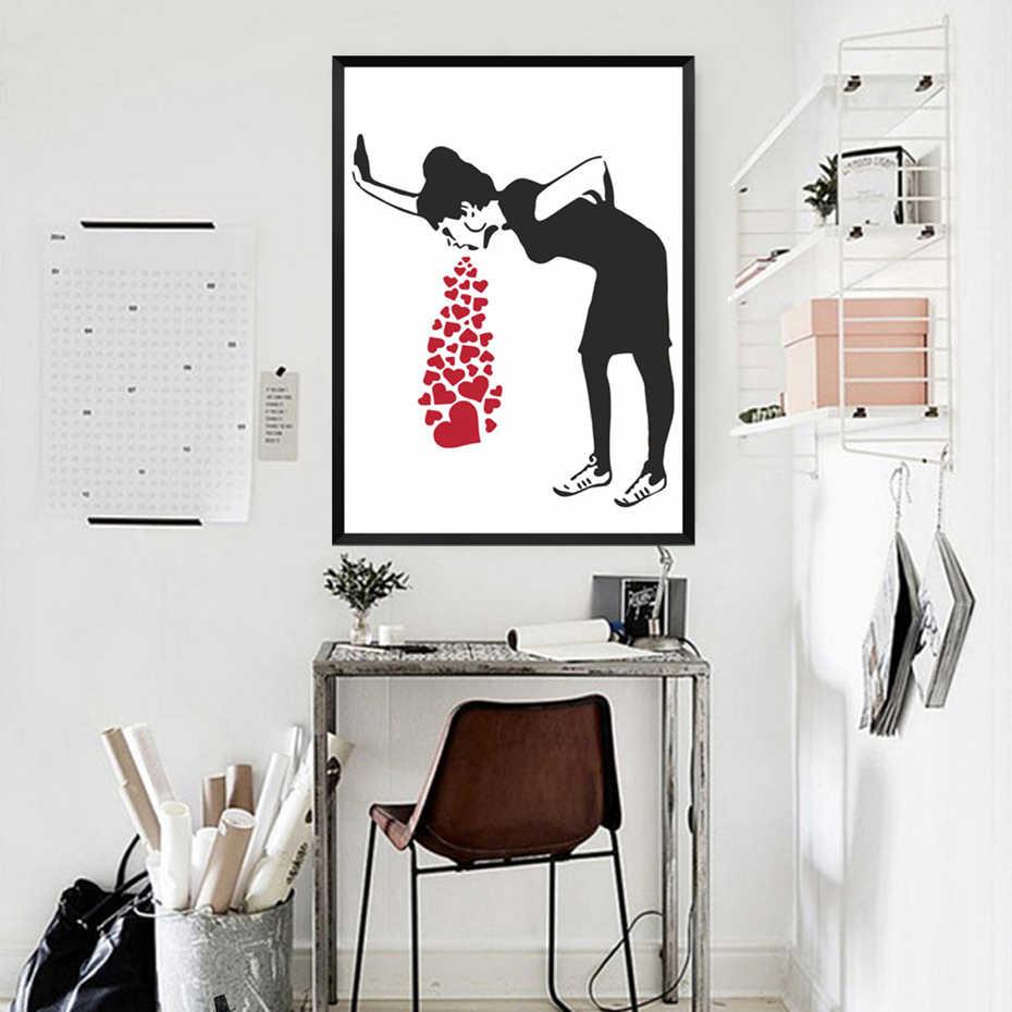 Абстрактные картины на холсте граффити настенный АРТ ПРИНТ плакат Юмор скандинавские картины детская комната гостиная домашний декор Прямая поставка