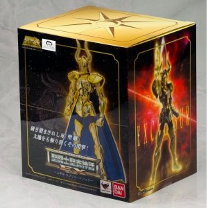 <font><b>Bandai</b></font> <font><b>Saint</b></font> <font><b>Seiya</b></font> Metal Armor <font><b>Cloth</b></font> <font><b>Myth</b></font> EX Gold Capricornus Shura model metal <font><b>cloth</b></font> Action Figure image