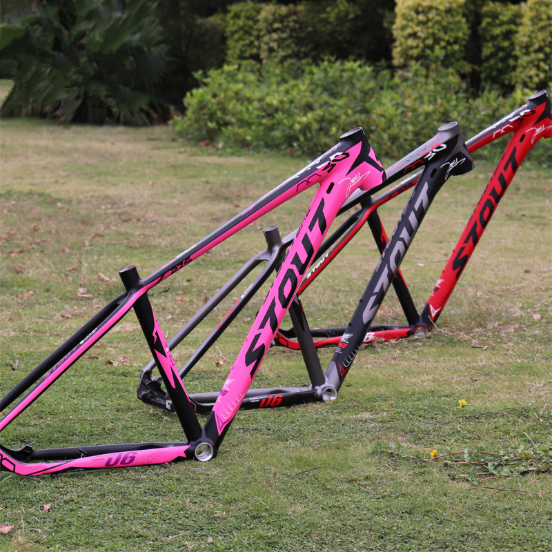 STOUT M30 Tyrannosaurus U6 aluminum alloy MTB frame ultra light mountain bike XC frame 1620g 17 inch mtb bike raw frame 26 aluminium alloy mountain bike frame bike suspension frame bicycle frame