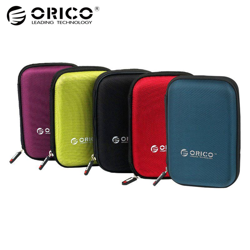 ORICO PHD-25 2.5 Inch HDD Protection Bag box for External Hard Drive Storage Protection case for HDD SSD Black/Blue/Green/PurPle цена
