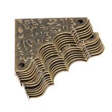 Декоративные угловые кронштейны из античной латуни 12 шт Подарочная