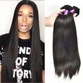 Аннабель продукты волос бразильский девственные волосы прямые необработанные бразильский прямые волосы 4 Bundle / много qt продукты человеческих волос