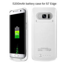 5200 mAh External Battery Backupr Charger Case Cover coque for samsung galaxy s7 edge g9350 Pack 5200mah Power Bank cases