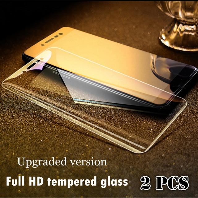 2 Pcs Cheio de Vidro de Vidro Para Xiaomi Redmi Nota 5A no 5 Além de Vidro Temperado para Xiaomi Redmi Nota redmi 5 5A 4X Protetor de Tela