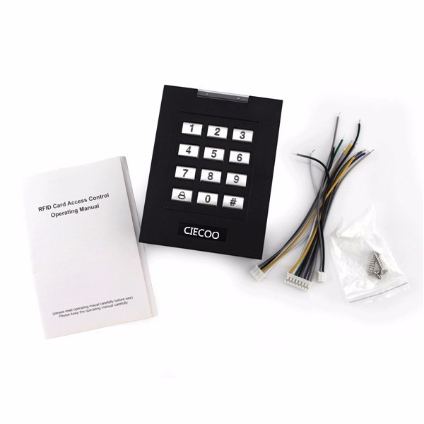 Password Keypad RFID Card Reader Door Access Control 1000 Users usb pos numeric keypad card reader white