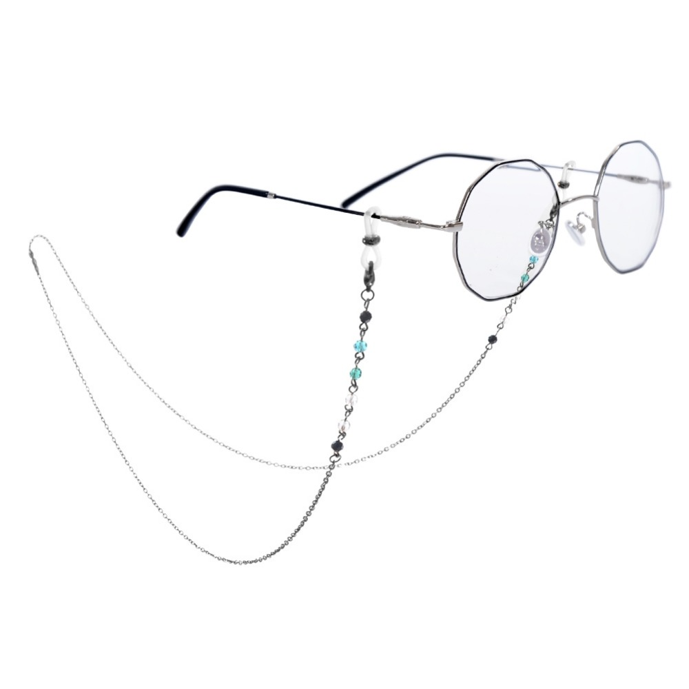 Sunglasses Chain Zinc Alloy Promotion Rushed Women Solid Sunglasses Cord Glasses Non-slip Hanging Chain Neck Colorful