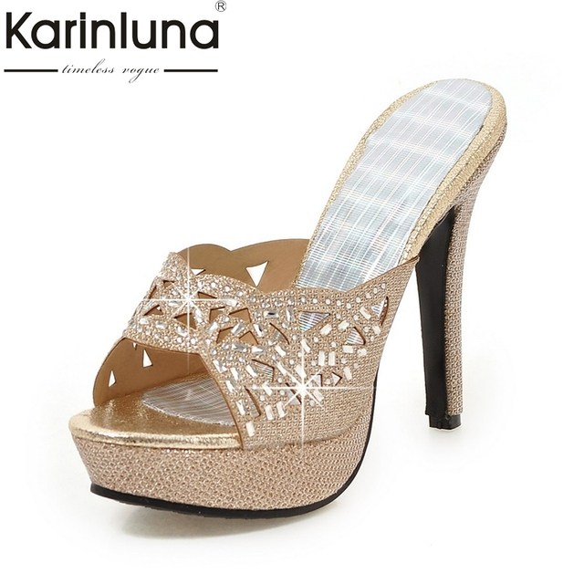 KARINLUNA 2018 plus size 33-43 platform brand Women Shoes Sexy thin High  Heels Dating f11c561a14bf
