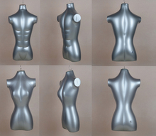 Inflatable Mannequin Female Upper-Body Mannequin Silver Gray High Quality Hot Sale