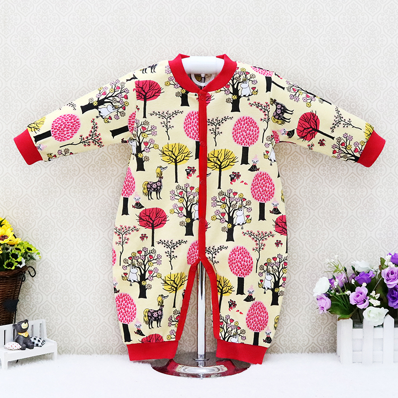 Baby Spring and Autumn Pure Cotton   Rompers   Long Sleeve Toddler Clothes Children Clothes Little Q New Suits christmas