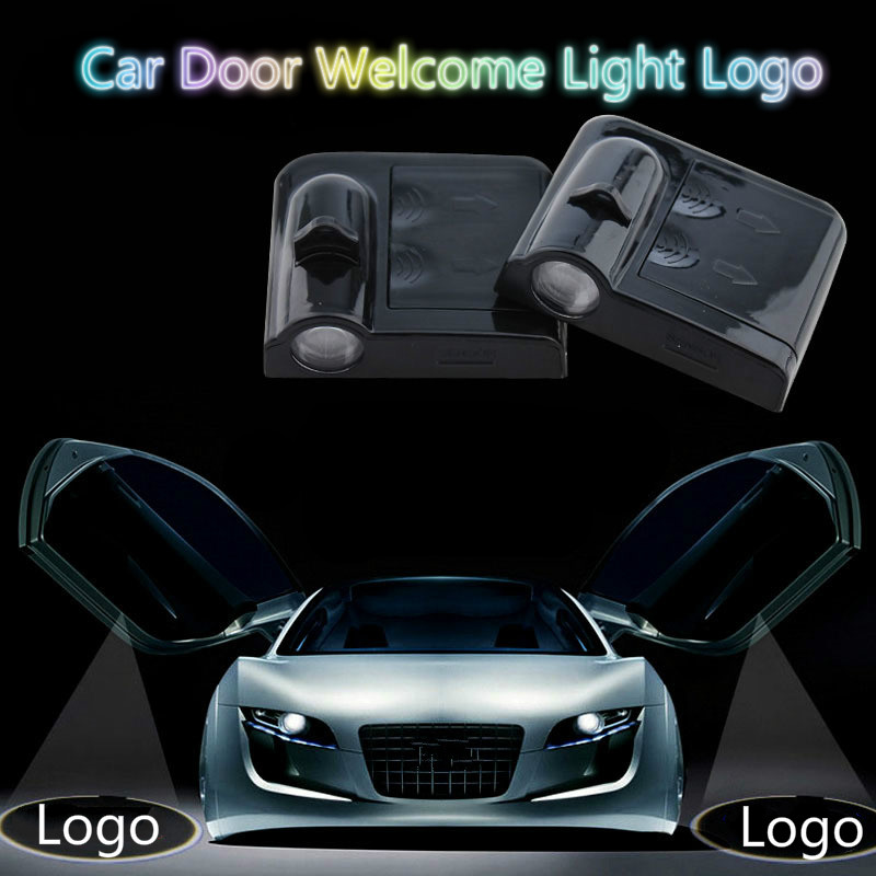 JURUS Wireless Car Projection Led Car Door Light Welcome Logo Laser Projector Lamp For Alfa Romeo For Peugeot 3008 Accessories