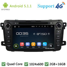 Quad Core 8″ 1024*600 Android 5.1.1 Car DVD Video Player Radio Stereo Screen BT DAB+ 3G/4G WIFI GPS Map For Mazda CX-9 2012-2015