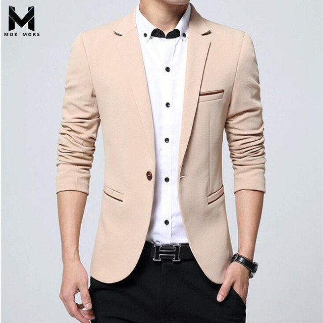 2018 Spring And Autumn Men New Blazer Fashion Brand Business Casual Self-cultivation Solid Color Large Size Cotton Mens Blazers