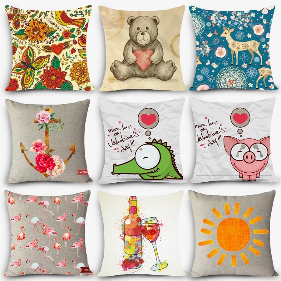Cheap Price High Quality Print Pillow Car Seat Linen