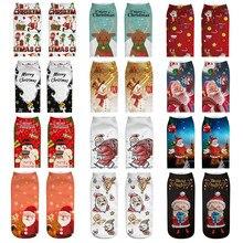LNCDIS harajuku skarpetki удобные Мультяшные рождественские носки женские хлопковые носки-тапочки короткие забавные носки до лодыжки с принтом meias p