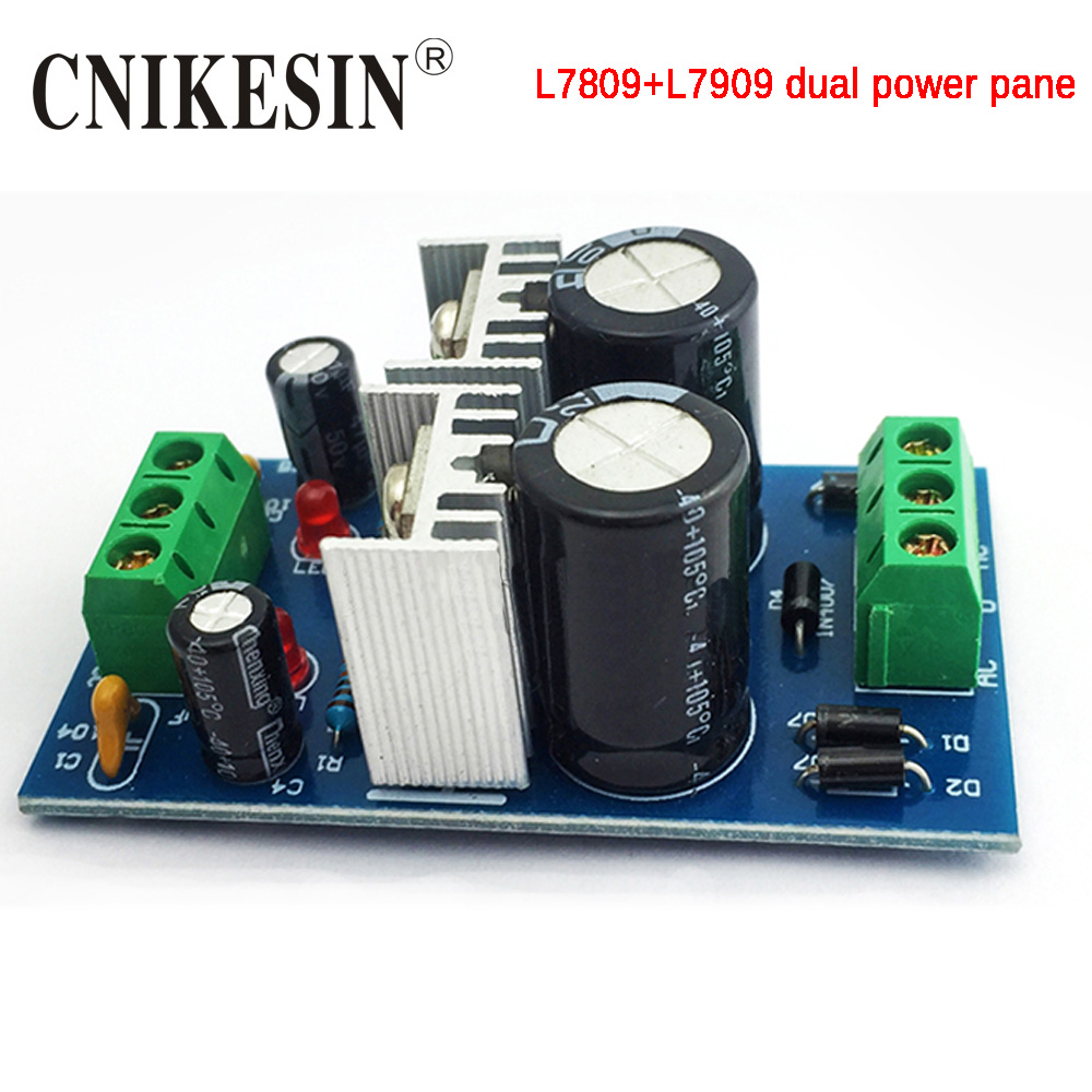 Lm317t Lm337t Linear Adjustable Filter Voltage Regulator Dc Power Simple 9volt Positive Cnikesin Diy Kit Three Terminal L7809 L7909 Dual Board And Negative 9v