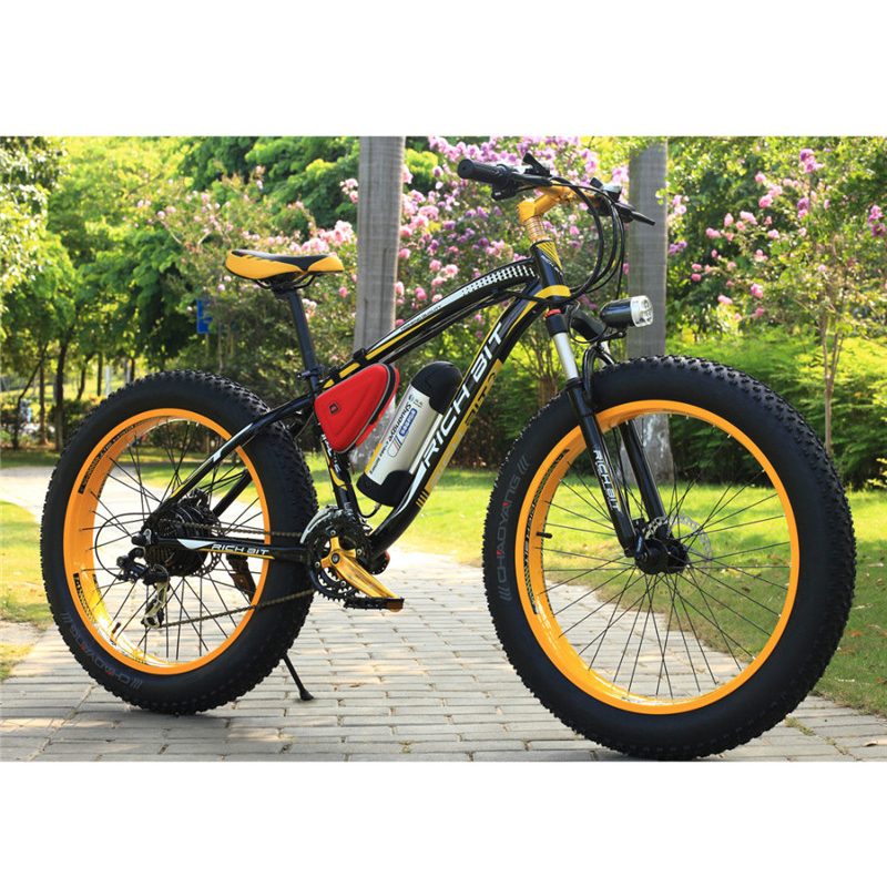 Electric Fat Bike >> Richbit New 36v 350w Fat Tire Ebike With 10 4ah Lithium Battery