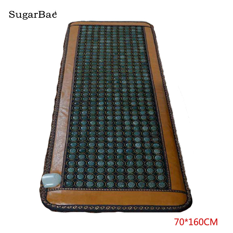 Нефритовый матрас Красота центр массажная кровать Jade каменный матрас нефритовый коврик Сделано в Китае здравоохранения массажер 0,7X1,6 м