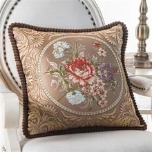"Tala HOMIN Sofá Decorativo Cojín de seda de lujo de alta calidad Throw Pillow 18 ""Vintage Decorbox satén de Lino PC0008"