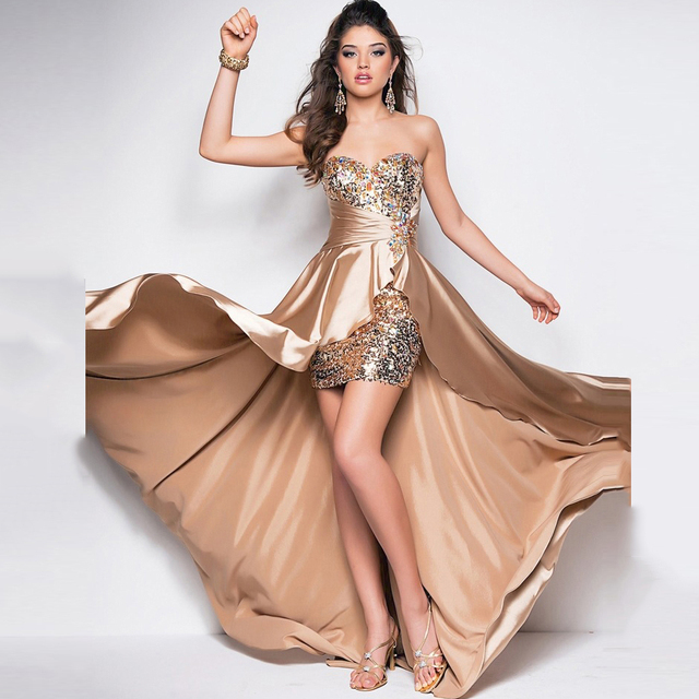 Vestidos strapless de moda 2015
