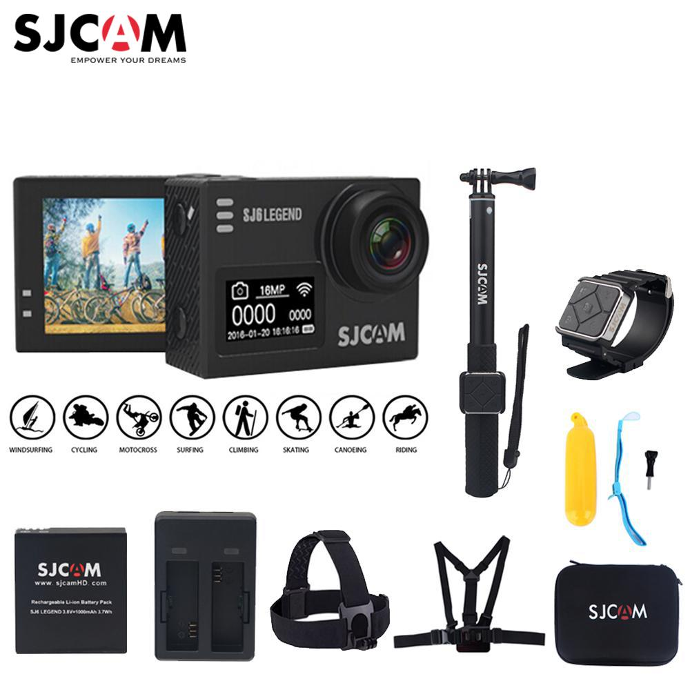 100% Original SJCAM SJ6 LEGEND 2.0 Touch Screen 4K Novatek 96660 Remote 30M Waterproof Diving Sports Action Camera Mini DV