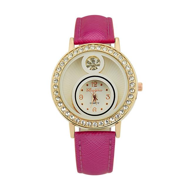 Duobla Fashion Leather Alloy Women Watches Simple Small Rhinestone Dial ladies Analog Quartz Wristwatch relogio feminino 30Q