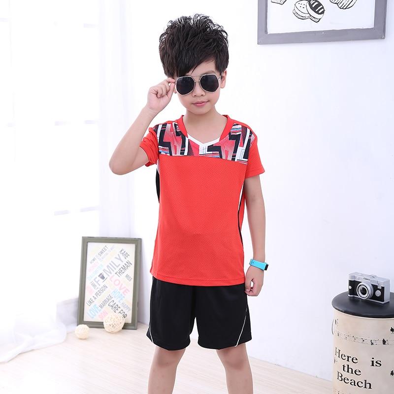 Children Tennis clothes boy tracksuit,Sports children table tennis clothes girl , sport running Badminton clothes 5052