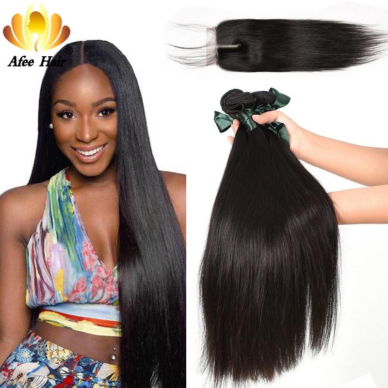 Produk Rambut Ali Afee Rambut Lurus Peru Hanya 1 Pc Warna Alami Tidak - Rambut manusia (untuk hitam)