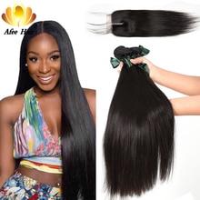 Ali afee haarproducten Peruaanse steil haar slechts 1 stuk natuurlijke kleur geen verwarrend geen verlies 100% human hair extension