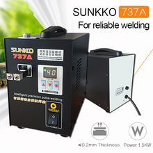 SUNKKO 737A Spot Saldatore 18650 batteria al litio doppio impulso saldatura a punti di precisione con digital LCD 110 V 220 V opzionale