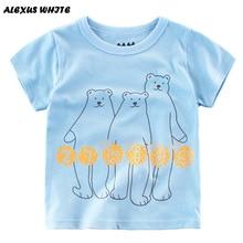 Kids Summer 2017 T Shirts Boys Short Sleeve Cotton Tops Cartoon Bear Print Tee Shirts Children Clothes Baby Boy T-Shirt 2-7Y