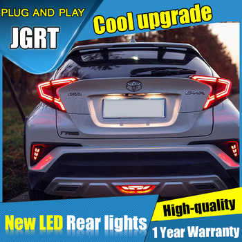 Dynamic turn signal car tail lights For Toyota C-HR Taillights LED DRL Running lights Rear parking lights brake light 2018 2019 - DISCOUNT ITEM  11% OFF All Category