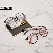 여자 안경 프레임 남자 빈티지 디자인 더블 빔 안경 여성 지우기 렌즈 안경 Unisex 레트로 안경 안경
