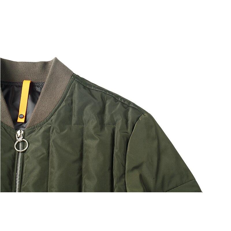 Enjeolon ฤดูหนาวหนาฤดูหนาวลงเสื้อแจ็คเก็ตผู้ชาย light parka coat ชาย warm parka coat 3XL ลง parka YR0122-ใน แจ็กเก็ตดาวน์ จาก เสื้อผ้าผู้ชาย บน   3
