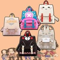 Anime Totoro One Piece Natsume Yuujinchou Kumamon Totoro Canvas Backpack Student Bookbag Girl Women Shoulder Bag