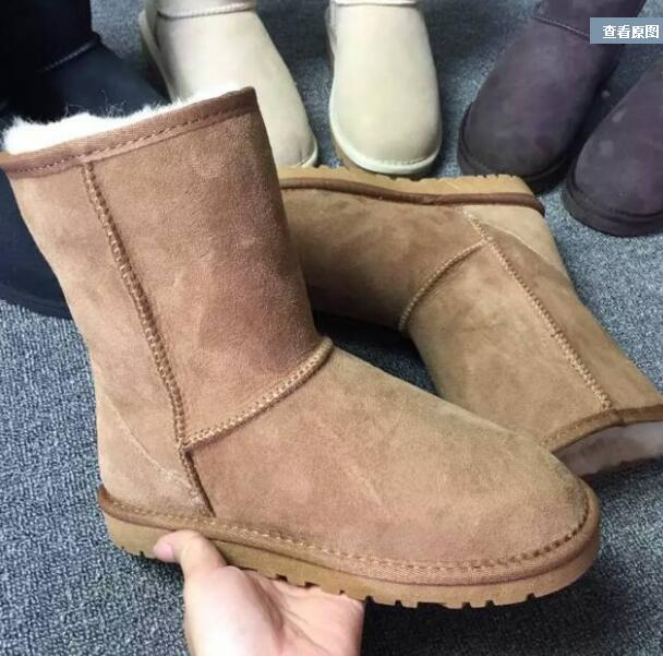 Brand Australia Women Snow Boots 100% Genuine sheep Leather Ankle Boots Warm Winter fur Boots Woman shoes large size 34-44 new