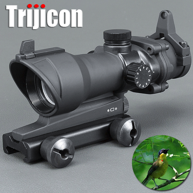 Trijicon Acog 1x32 Green And Red Dot Scope With Red Dot Sight Tactical Shooting /hunting Scope Ak 47 Tactical Scope Riflescopes tactical trijicon acog style 4x32 rifle scope and 1x docter red dot sight hunting shooting m2833 m7830