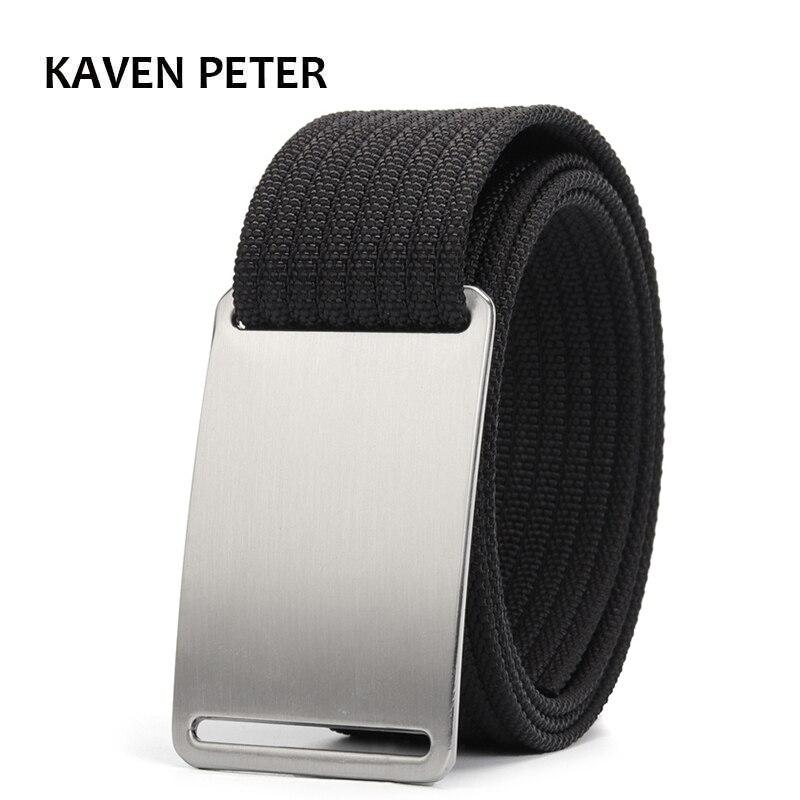 Luxury Men   Belt   Canvas Military Tactical   Belt   For Mens Cinturon Hombre 1.5