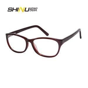 Image 5 - Blokujące niebieskie światło okulary do czytania kobiety przeciw zmęczeniu długim rzut oka okulary UV400 ochrony okulary z acetatu Oculos De Leitura LD016