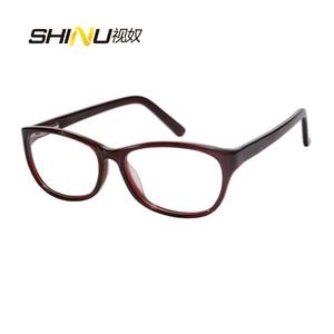Image 5 - アンチブルーライト老眼鏡女性抗疲労視力眼鏡uv400保護アセテート眼鏡oculosデleitura ld016