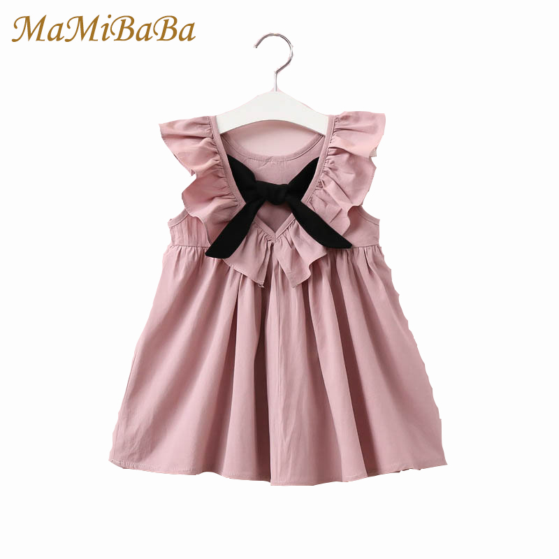 Toddler Girl Tutu Dress 2017 Summerruffle Princess Party Wedding Pageant Kids Baby Dresses Backless  Bow Girls Clothing Fd017 summer 2017 new girl dress baby princess dresses flower girls dresses for party and wedding kids children clothing 4 6 8 10 year